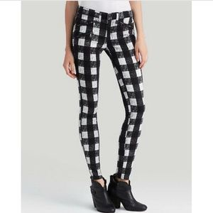 Rag & Bone Buffalo Check Plaid Skinny Pants